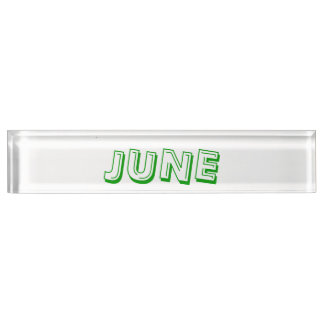 June Desk Nameplate by Janz
