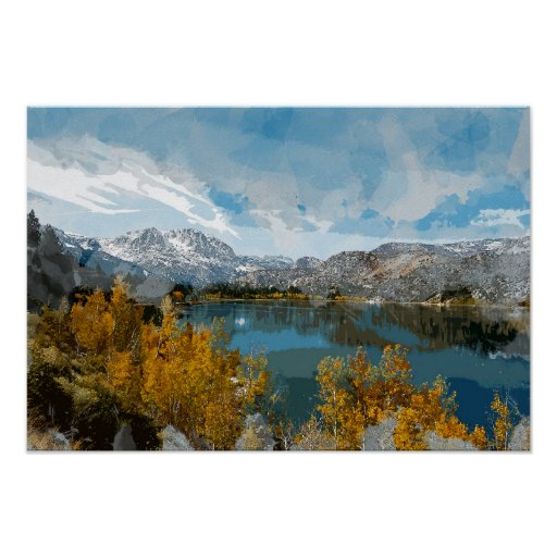 June Lake in Sierra Nevada Range of California Poster