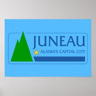 Juneau city Alaska flag united states america symb Poster