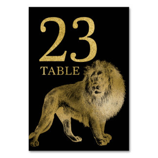 Jungle African Animal Lion Table Number Card 23
