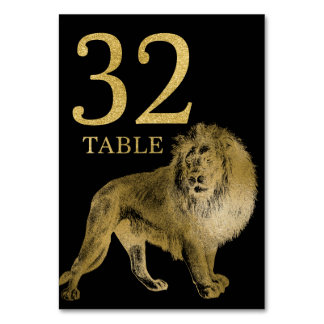 Jungle African Animal Lion Table Number Card 32