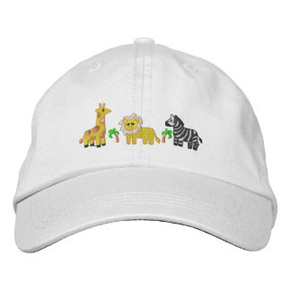 Jungle Animals Embroidered Hat