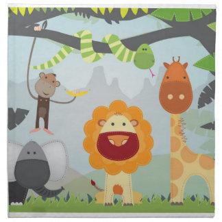 Jungle Animals Napkin
