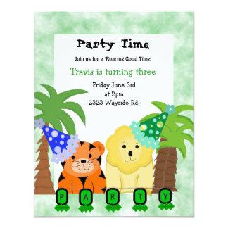 Jungle Animals Party Invitation