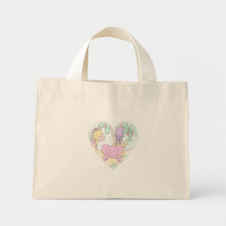Jungle Baby Heart 13- Customized Mini Tote Bag