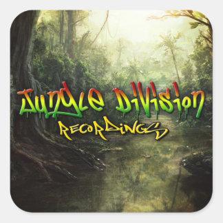 Jungle Division Recordings Square Stickers