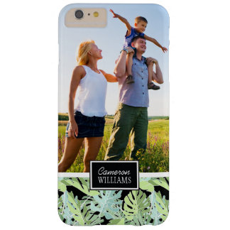 Jungle Floral Pattern | Add Your Photo & Name Barely There iPhone 6 Plus Case