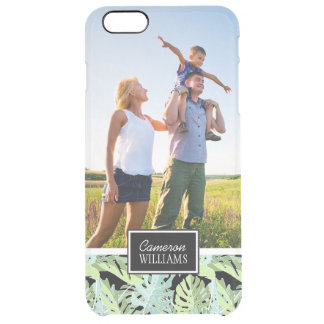 Jungle Floral Pattern | Add Your Photo & Name Clear iPhone 6 Plus Case