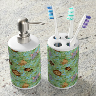 Jungle Friends Soap Dispenser And Toothbrush Holder