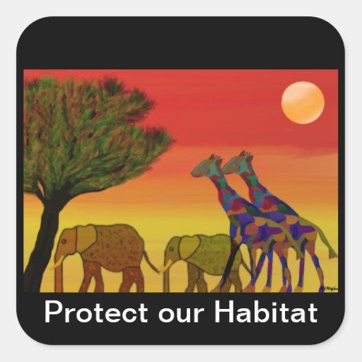 Jungle Habitat Stickers