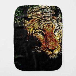 jungle predator wildlife safari animal wild tiger burp cloth