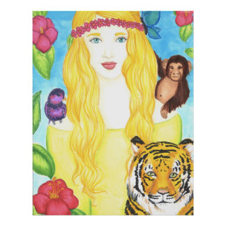 "Jungle Princess Poster Matte (32"" x 40.73"")"