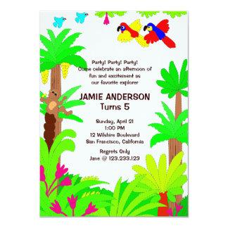 Jungle Safari Kid's Birthday Party Invitation