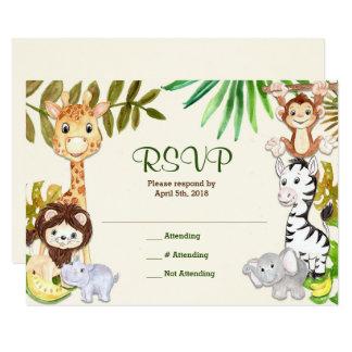 Jungle Safari Zoo RSVP Response Card