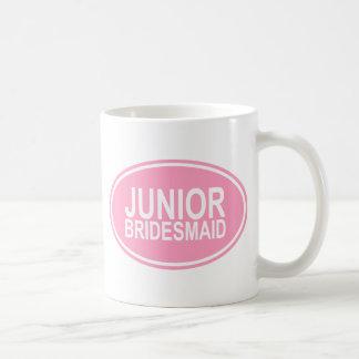 Junior Bridesmaid Wedding Oval Pink Coffee Mug