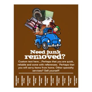 Junk removal business custom tear sheet flyer