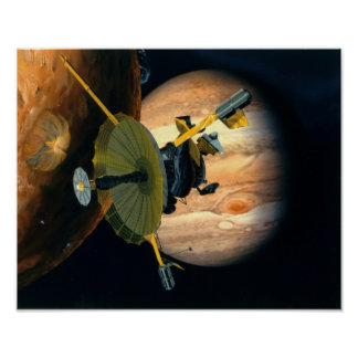 Jupiter and Lo Galileo probe Poster