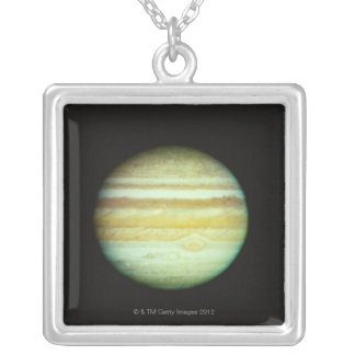Jupiter in True Color Silver Plated Necklace