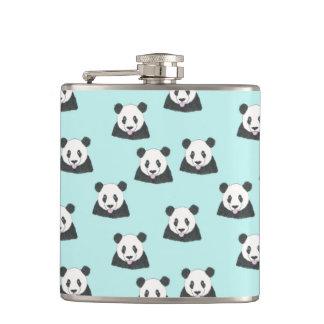 Jurassic Panda Selfie Pattern Hip Flask