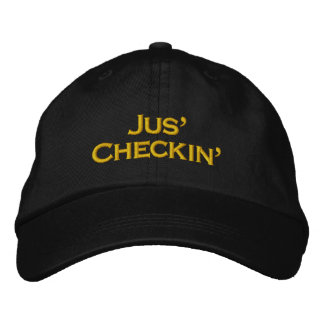 JUS' CHECKIN' - STREET GAMER HAP EMBROIDERED HAT