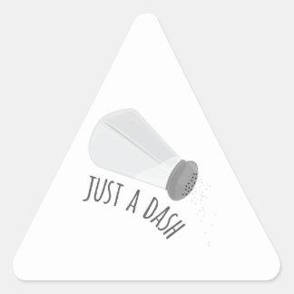 Just A Dash Triangle Sticker