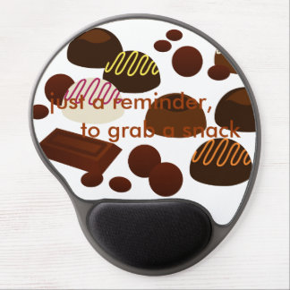 just a reminder, to grab a snack gel mouse pad