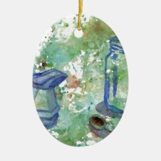 Just a Touch of Coffee Watercolor 2 Christmas Ornament