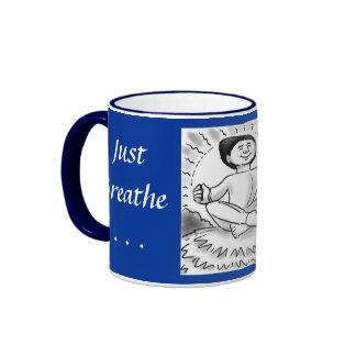 Just Breathe Humanist coffee mug