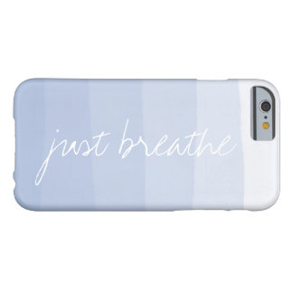 Just Breathe | Serenity Watercolor Gradient Stripe Barely There iPhone 6 Case