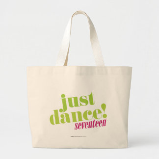 Just Dance - Green Large Tote Bag