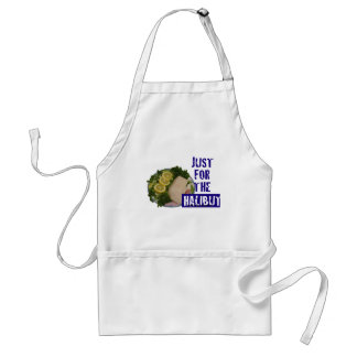 just for the halibut humorous parody Apron