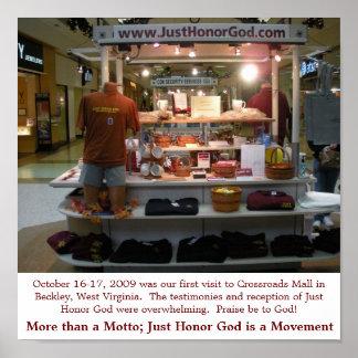 Just Honor God Crossroads Mall Kiosk Poster