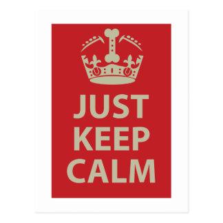 Just Keep Calm Postcard
