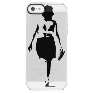 Just Keep Walking - Girl on the beach Clear iPhone SE/5/5s Case