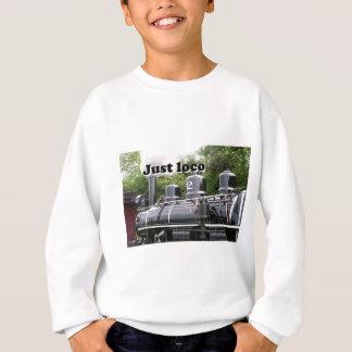 Just loco: steam engine, Wales, United Kingdom Sweatshirt