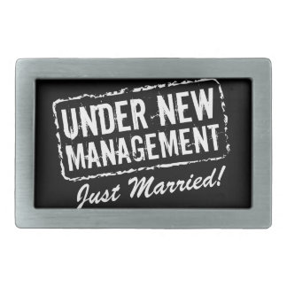 Just Married belt buckles | Under new management