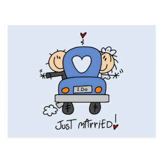 Just Married Bride and Groom T-shirts and Gifts Postcard