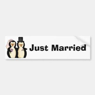 Just Married Bumper Sticker Car Bumper Sticker
