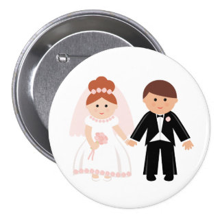 Just Married Couple Button