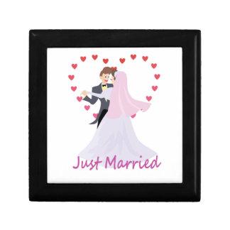 Just Married Trinket Box