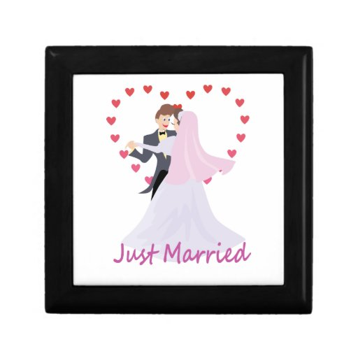 Just Married Trinket Box