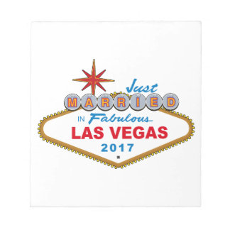 Just Married In Fabulous Las Vegas 2017 (Sign) Notepad