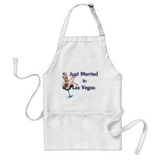 Just Married Las Vegas Standard Apron