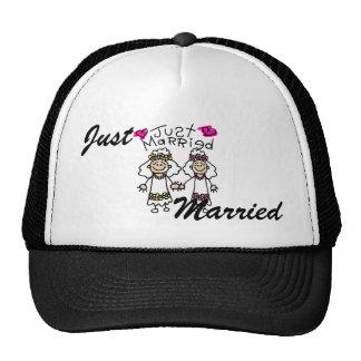 Just Married Lesbians Cap