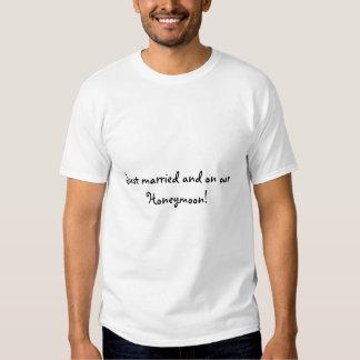 Just married on honeymoon t shirt