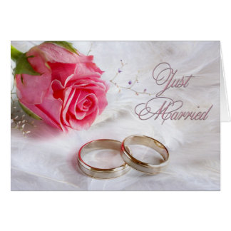 Just Married or Just Eloped Announcement