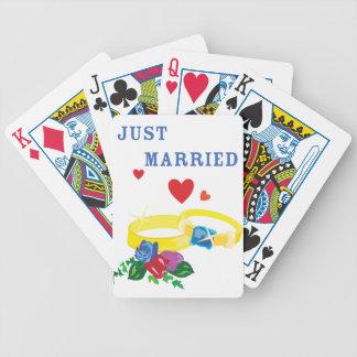 Just Married Rings Bicycle Card Decks