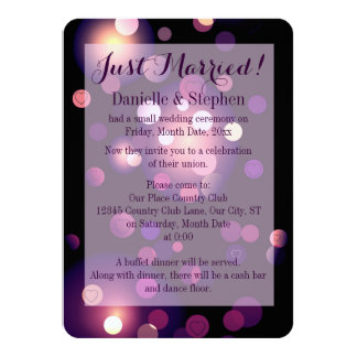 Just Married Spots and Hearts 11 Cm X 16 Cm Invitation Card