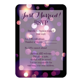 Just Married Spots and Hearts RSVP Card