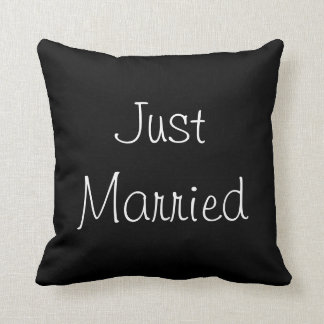 Just Married Throw Cushions
